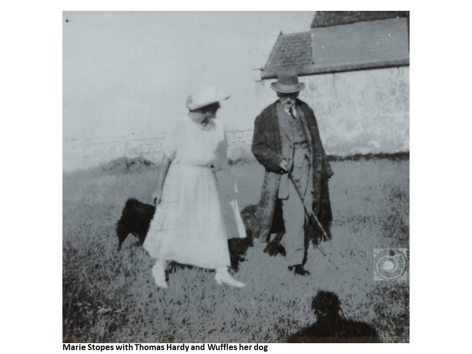 13-Marie_Stopes_with_Thomas_Hardy_and_Wuffles_her_dog