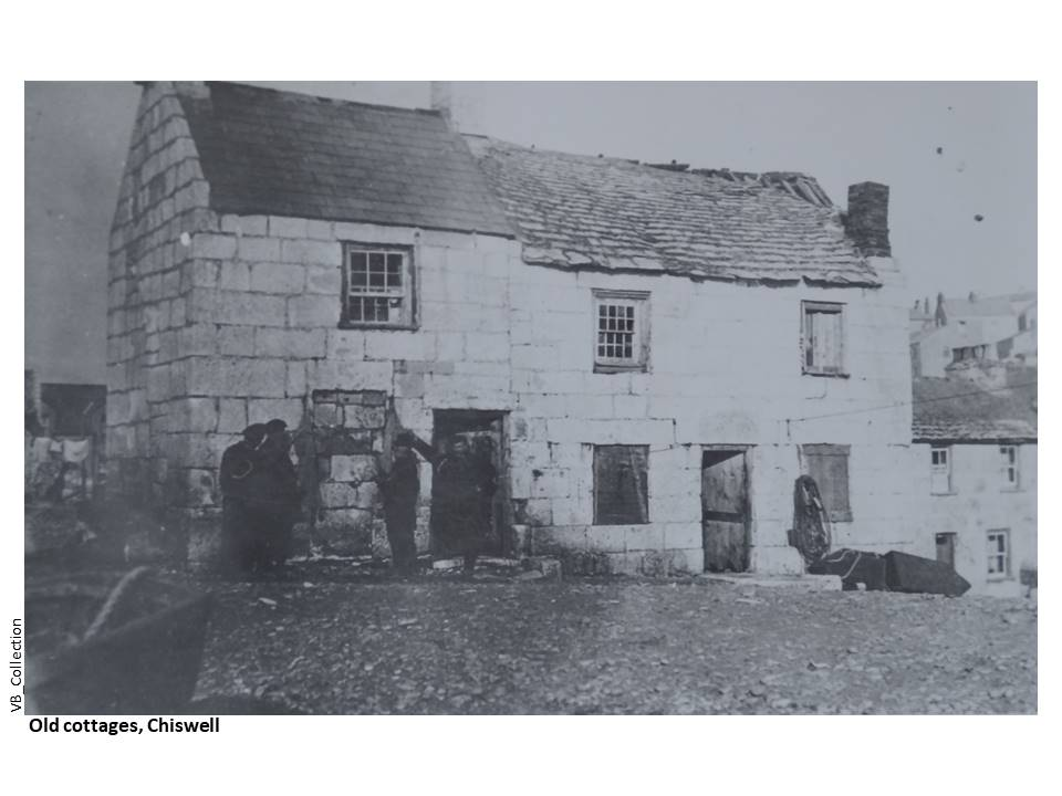 086-Chiswell-VB-Fishermen's_Cottages_Chesil-c1890